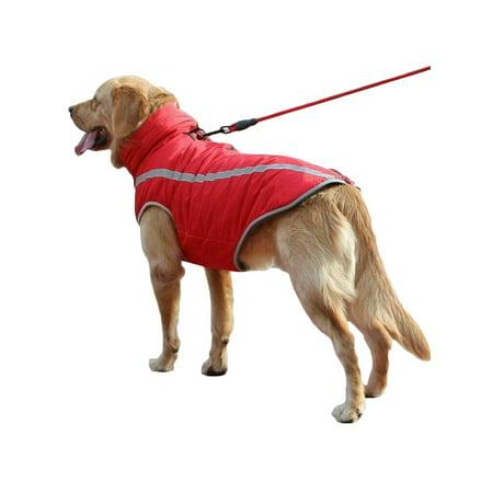 Waterproof Winter Warm Dog Coat Clothes Dog Padded Fleece Pet Dog Vest