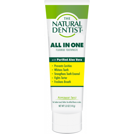 The Natural Dentist All In One Anti-Cavity Toothpaste - Peppermint Twist - 5 Oz