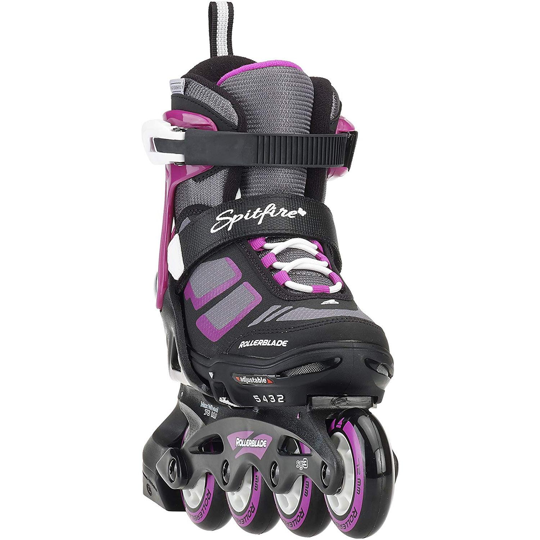 11Y-1J Rollerblade Spitfire Girls Adjustable Inline Skates