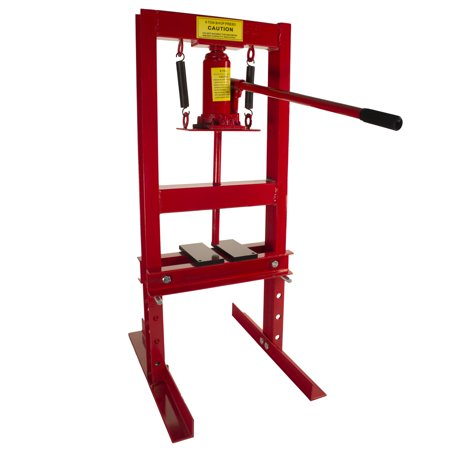 Dragway Tools 6-Ton Hydraulic Shop Press Benchtop with Plates H Frame Jack Stand