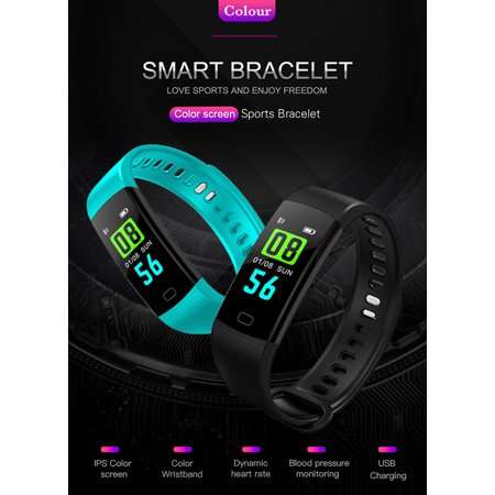 Y5 Color Screen IP67 Waterproof Smart Watch Bluetooth Fitness Tracker Bracelet Smart Wrist Watch Band for iphone Android w/ Touch Screen -