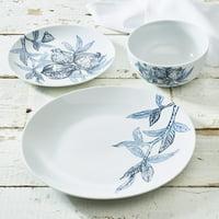 Deals on Blue Pomegranate Collection 12-Piece Porcelain Dinnerware Set