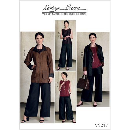 Misses' Reversible Jacket and Top and Pants, L-XL-XXL Garden Reversible Jacket
