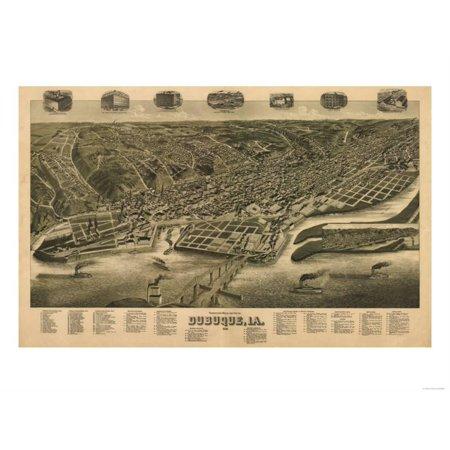 Dubuque, Iowa - Panoramic Map Print Wall Art By Lantern - Party City Dubuque Iowa