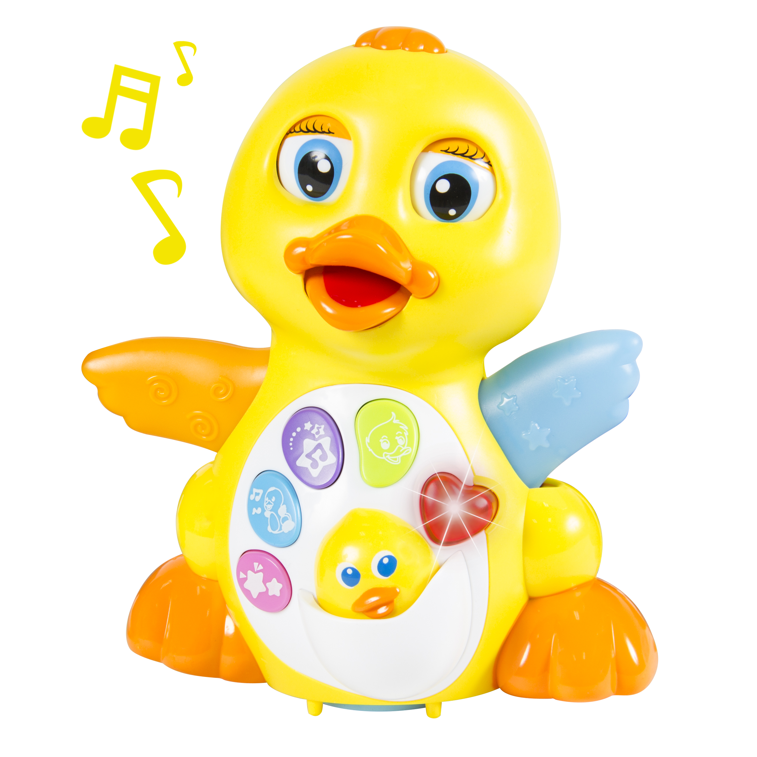 Musical Flapping Talking Duck Lights and Music Bump and Go Action