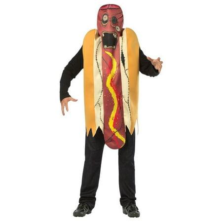 Zombie Hot Dog Men's Adult Halloween Costume, One Size, - Dog Zombie Costume