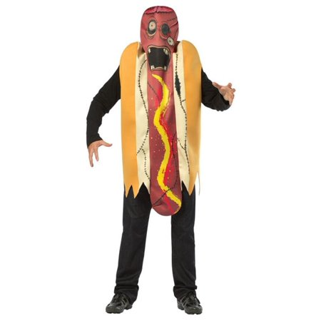 Zombie Hot Dog Men's Adult Halloween Costume, One Size, - Hot Zombie Costumes