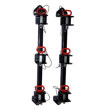 Bradley Mowers TG3500 Trimmer Rack for 3 Trimmers for Enclosed Trailers, Wall-Mount, Vinyl-Coated