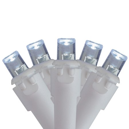 Brite Star 70ct LED Icicle Christmas Lights White - 5.6' White Wire ()
