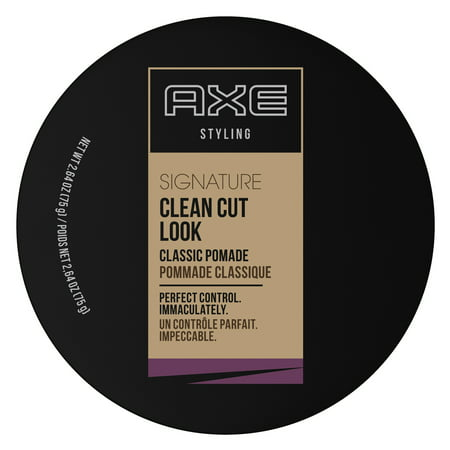 AXE Clean Cut Look, Classic, Hair Pomade for Men, 2.64 oz S-curl 360 Style Pomade