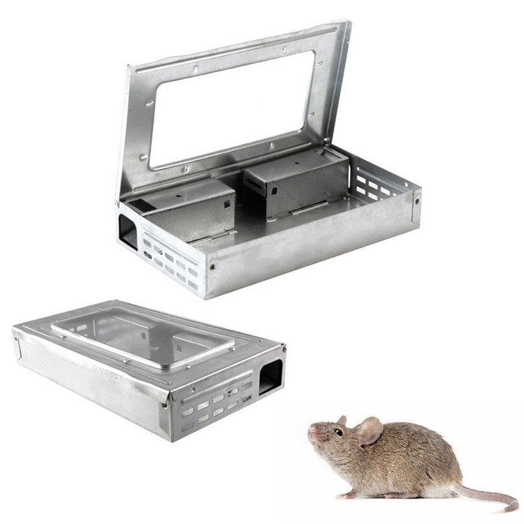 8-PACK Tin Cat Mouse LIVE Trap with Window Multi Catch Mi...