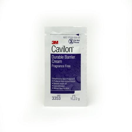 3353 Cream (Cavilon Durable Barrier Cream 3353 2g Box of 20, Unscented)