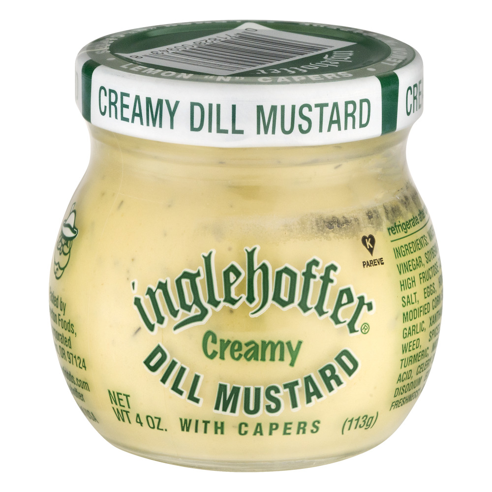 Inglehoffer Creamy Dill Mustard with Capers, 4.0 OZ by Beaverton Foods, Inc.