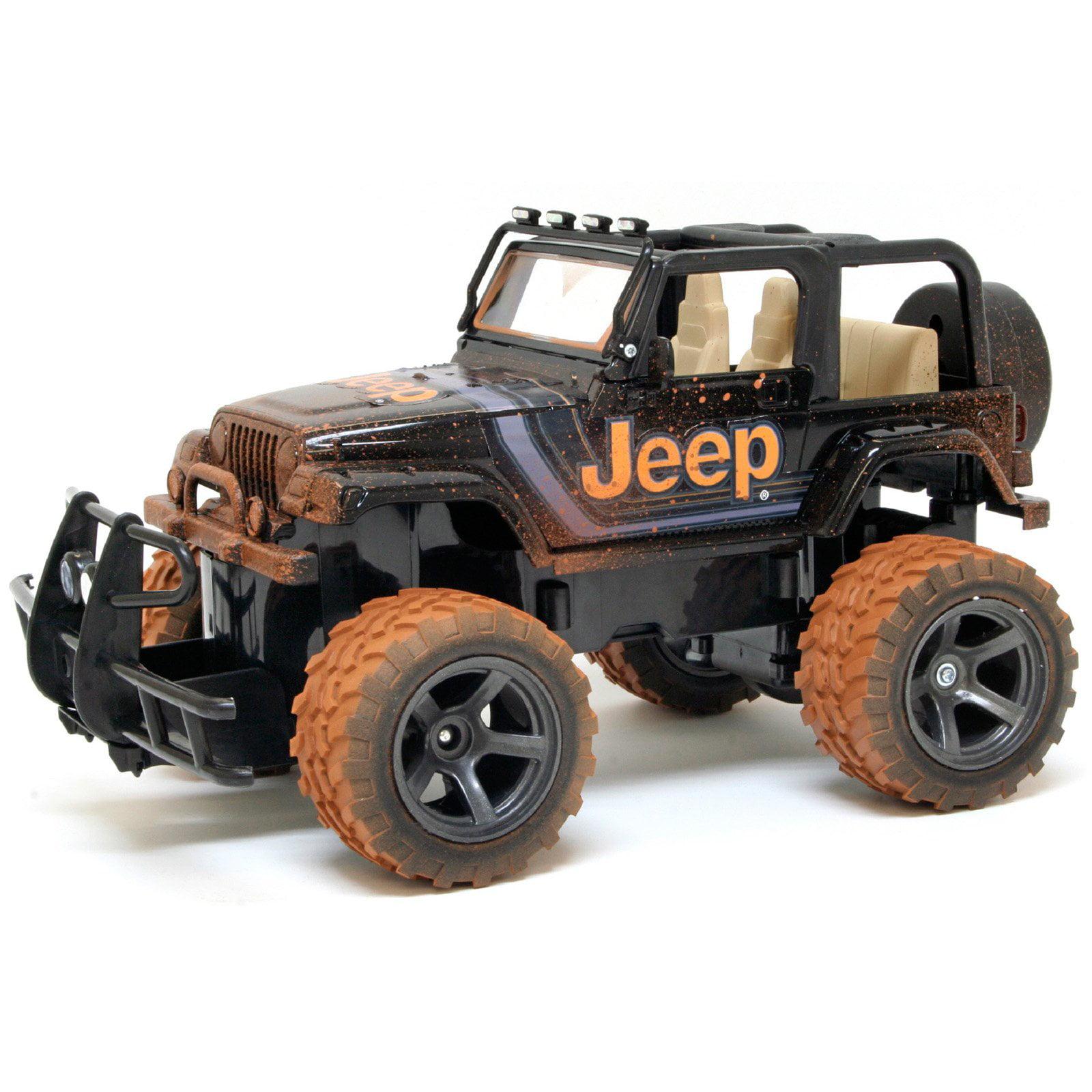 New Bright 1:15 Radio Control Full-Function Mud Slinger Jeep, Black