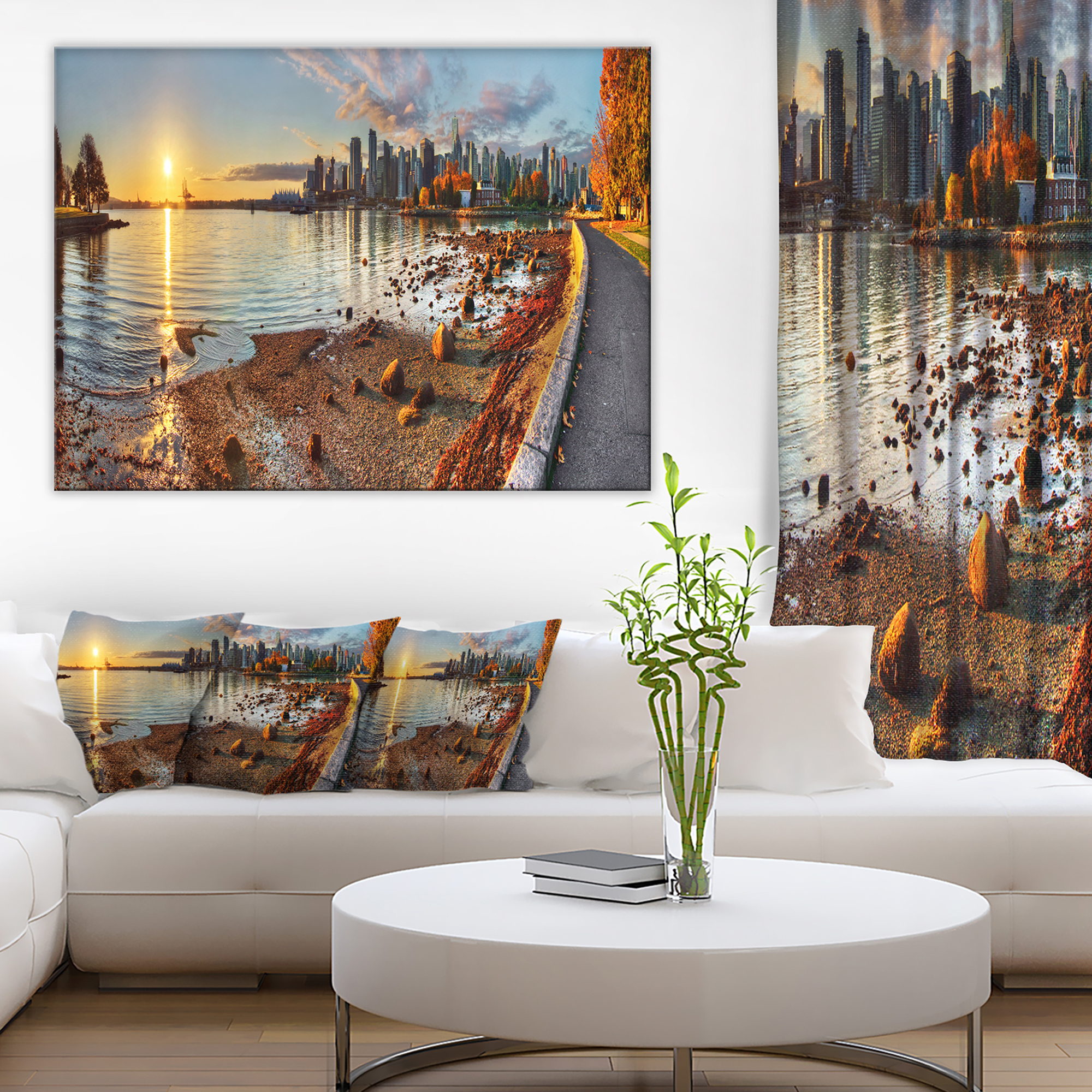 Vancouver Downtown Panorama - Landscape Canvas Art Print - image 4 of 4