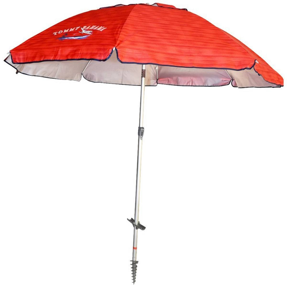 Tommy Bahama 7 Ft Sun Blocking Beach Umbrella With Tilt And