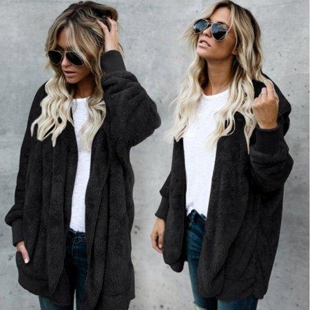Winter Warm Faux Fur Cardigan Women