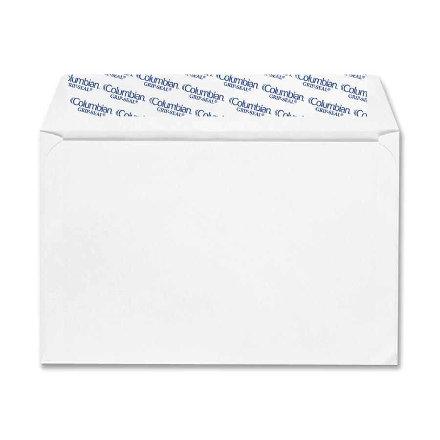 Columbian, QUACO468, Grip-Seal Greeting Card Envelopes, 100 / Box, White