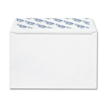 Columbian QUACO468 Grip Seal Greeting Card Envelopes 100 Box White