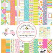 "Doodlebug Double-Sided Paper Pack, 12"" x 12"", 11pk, Spring Garden"