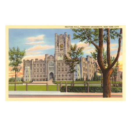 Keating Hall, Fordham University, New York City Print Wall Art