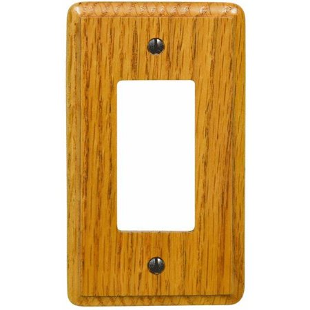 Contemporary Light Oak Decorator Wall Plate ()