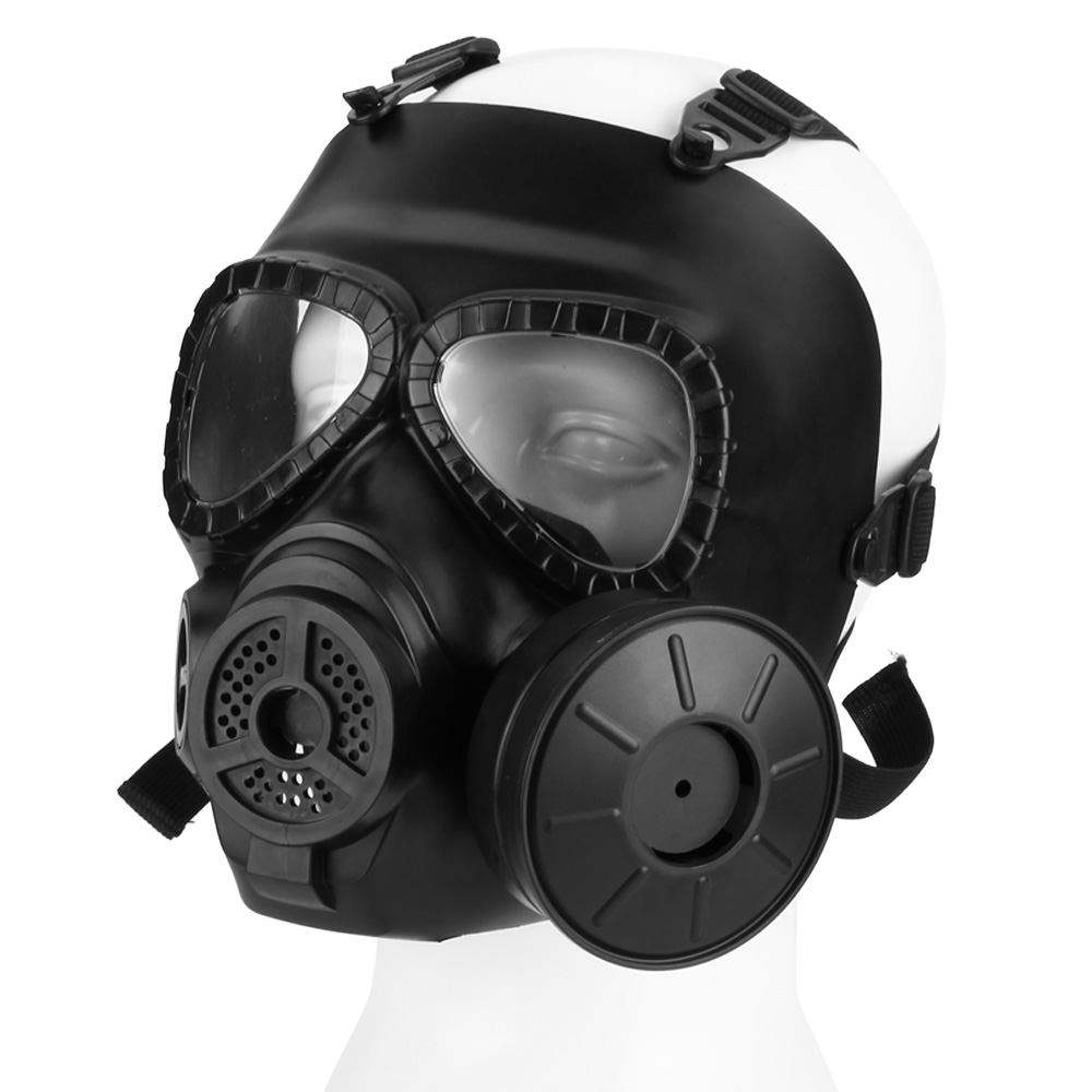 Tactical Airsoft Mask with Fan Full Face Protection Skull Safety Guard in Black for Outdoor Activity Paintball Wargame... by