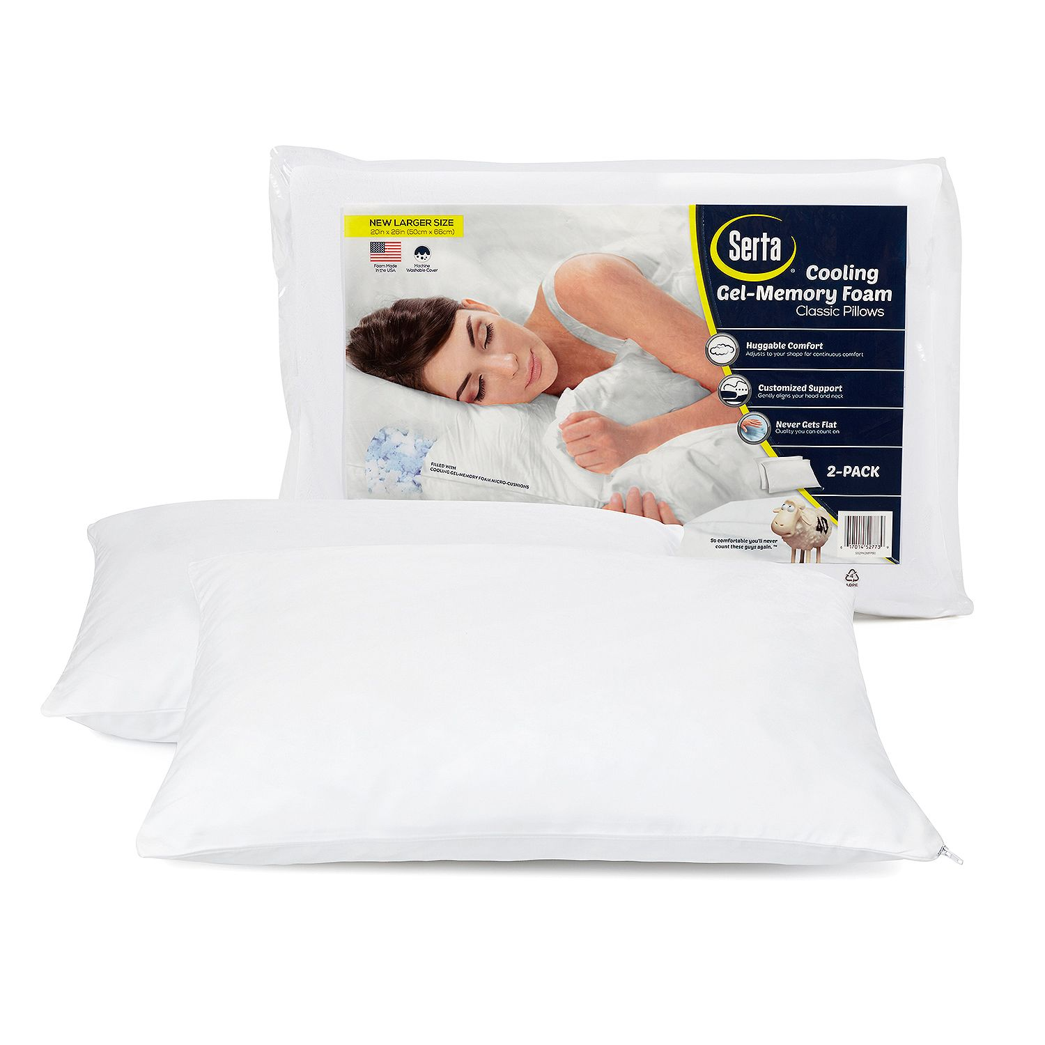 Serta Gel Memory Foam Cluster Pillows (2 pack)   Walmart.