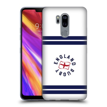 OFFICIAL ENGLAND RUGBY UNION 2017/18 STRIPE BADGE SOFT GEL CASE FOR LG PHONES 1