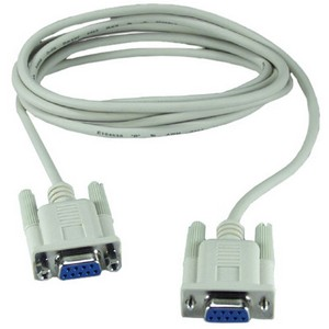 QVS Null modem cable - DB-9 Female Serial - DB-9 Female Serial - 10ft