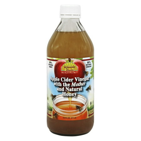 Dynamic Health - Organic Apple Cider Vinegar with the Mother and Natural Honey Glass - 16