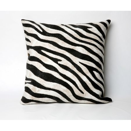 Black and White Zebra Print 20in.X20in. Decorative Throw Pillow - Walmart.com