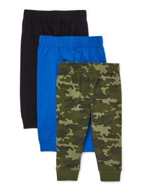 Garanimals Baby Boy Jersey Jogger Multi-Pack, 3pc