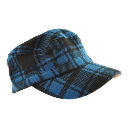 Children's Kangol Twill Stitch Plaid Flexfit Army Cap