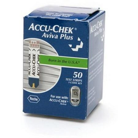 accu chek aviva plus blood glucose test strips 50 ct walmart com