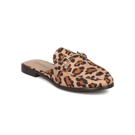 great quality latest affordable price Breckelles - Women Leopard Slip On Mule - Casual, Office, Trendy ...