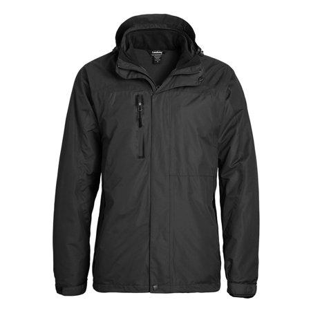 The North Face Fleece Parka - Landway Men's Hooded Parka With Fleece Zippered 3-Panel Hood, Style 7758