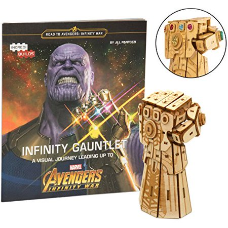 Marvel Avengers Infinity War Infinity Gauntlet Book and 3D Wood Model Kit - Build, Paint and Collect Your Own Wooden Model - Great For Kids and Adults - 12+ ()