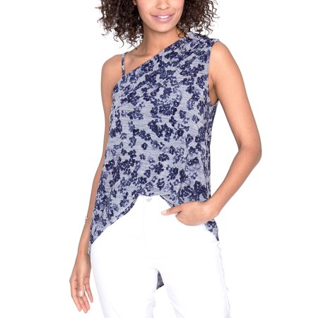 Rachel Roy | March One Shoulder Floral Top | Blue (March Of The Penguins Blu Ray Review)