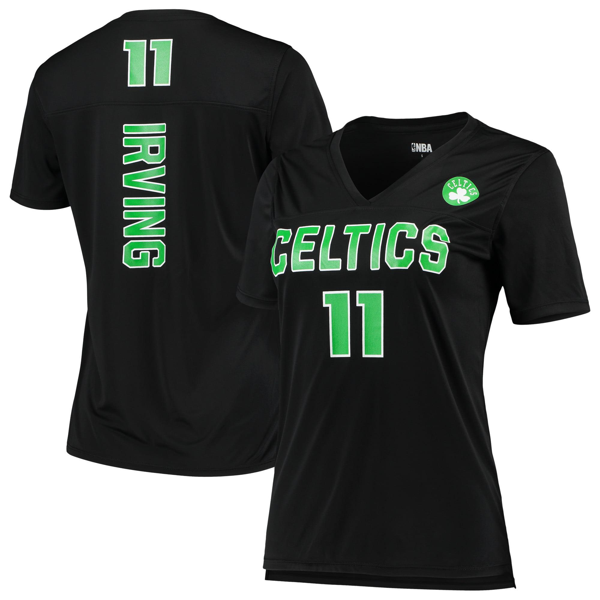 Women's 5th & Ocean by New Era Kyrie Irving BlackBoston Celtics Name and Number T-Shirt