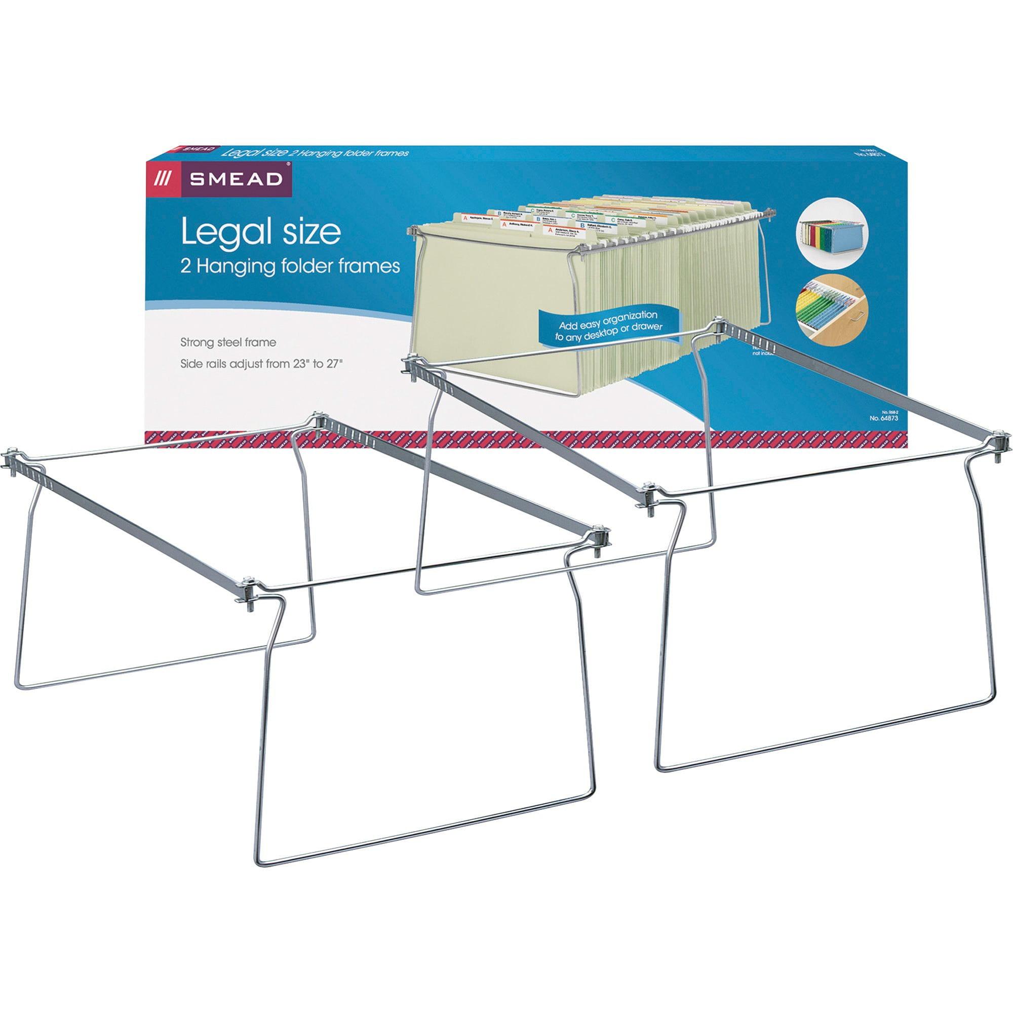 Smead Steel Hanging File Folder Frames, Legal Size, Steel, 2 per Pack (64873)