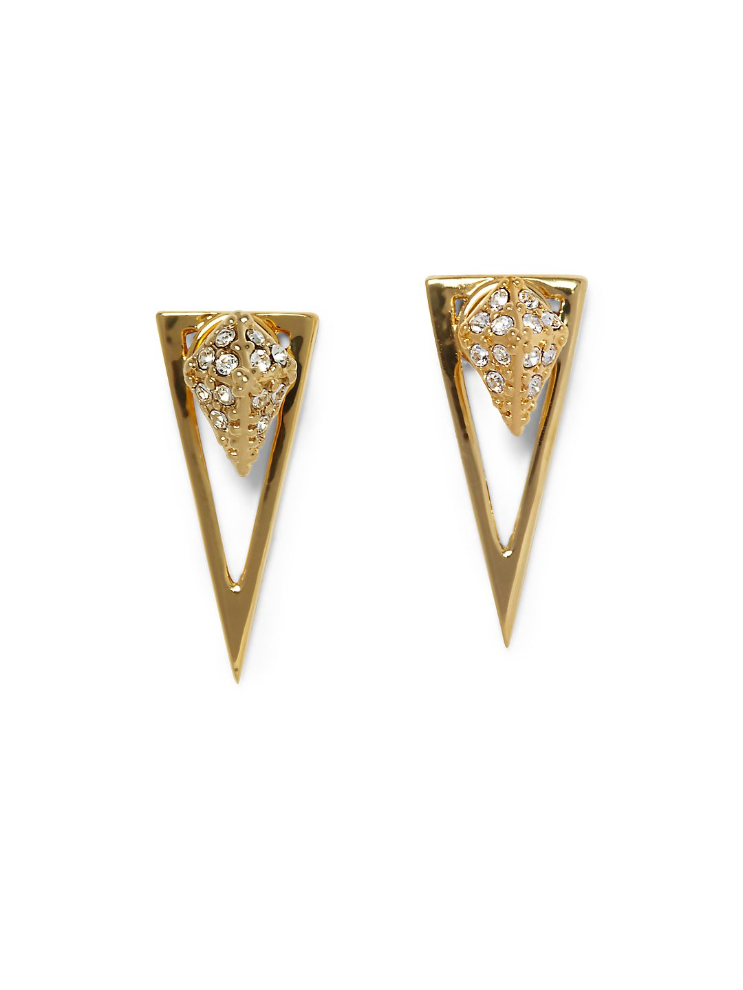 Crystal Pave Pyramid Dangle & Drop Earrings