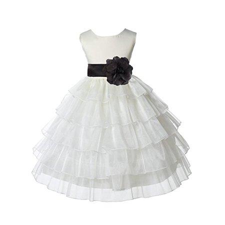 d740cc042 Ekidsbridal - Ekidsbridal Ivory Satin Shimmering Organza Flower Girl  Dresses Wedding Pageant Dresses Formal Special Occasion Dresses Holy  Communion Baptism ...