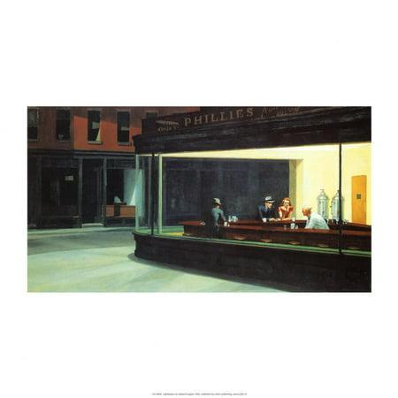 Nighthawks Art Print By Edward Hopper - (Nighthawks Hopper)