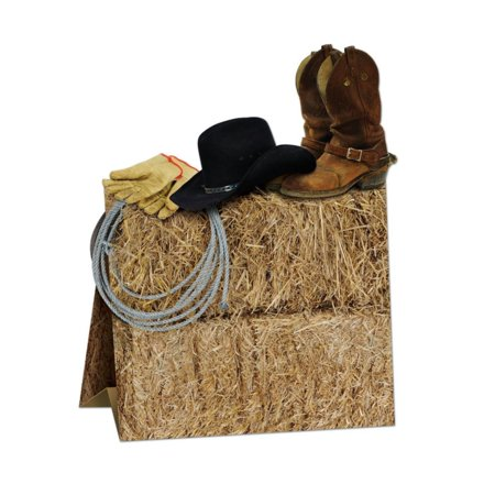 Western Centerpiece (Club Pack of 12 Multi-Colored 3-D Country Western Centerpiece Party Decorations)