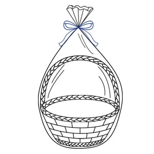 "Gift Wrap Gl Clear Cello 3-ct Basket Bags 14""x24"""