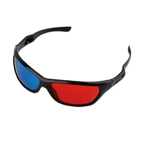 Weyli Universal Anaglyph 3D TV Glass, Red and Blue Lens - 3 D Glasses