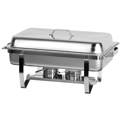 Atosa Full Size Chafing Dish with Stainless Steel Pan and Lift-Up Lid by