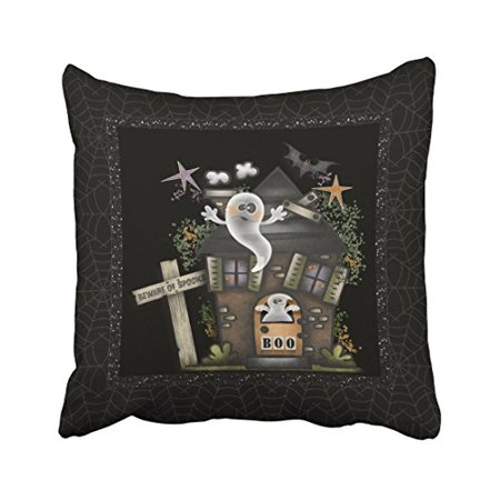 WinHome Halloween Cute Haunted Ghost House Throw Pillow Covers Cushion Cover Case 20x20 Inches Pillowcases Two Side](Cute Halloween Ghost Sayings)