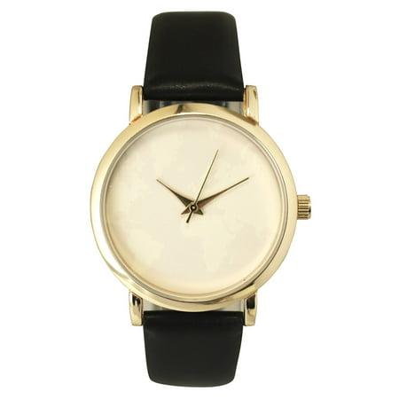 Olivia Pratt - Olivia Pratt Women\'s Subtle World Map Leather Watch ...